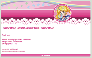SMC: Sailor Moon Journal Skin by Meinona