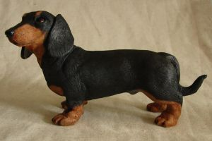 Dachshund Sculpture side view by philosophyfox