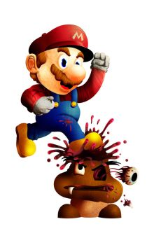 8 bit fatality : Goombash by pete-aeiko