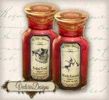 Halloween Apothecary Labels by VectoriaDesigns