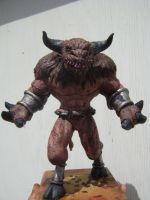 Minotaur sculpture painted by b1938dc