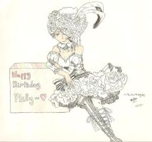 Happy Birthday- Doll- Scanned by yunamoogle
