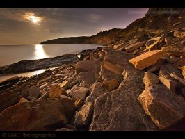 Moonlight over Peveril Point by GMCPhotographics