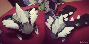 Cosplay progress - MH Rathalos 004 by Grethe--B