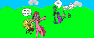Pinkie Pie and Spongebob. by Varano25