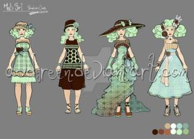 Minty Girl:  Cookie Dress by AudreyGreenhalgh