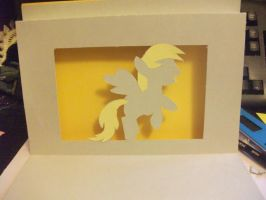 Derpy Hooves pop up card by littlepig159