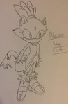 Blaze SKETCH by SkylatheHedgehog1
