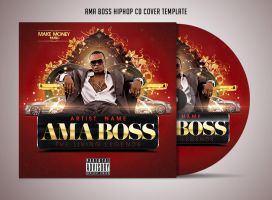 Ama Boss Hiphop Cd Cover Template by Grandelelo