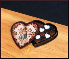 Romantic chocolates by MiniatureChef