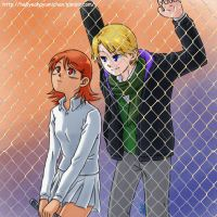 digimon - the fence by Ayumi-NB