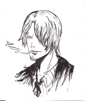 Estampe Portrait  - Sanji by WizzardFye