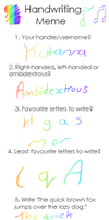 Handwriting Meme by Kutanra