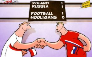 Poland and Russia help football triumph by OmarMomani