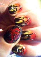 The Hobbit nail art: Smaug by IronMandy