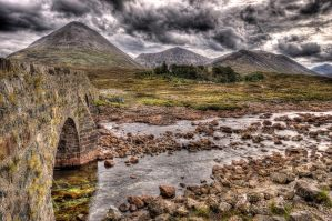 Sligachan, Bridge to the Cuillins by Spyder-art