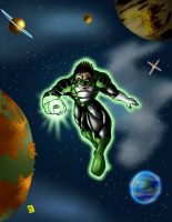 Green Lantern by psychoheat