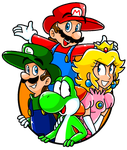 Mario and Friends! by LuigiYoshi2210