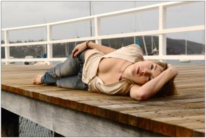 Peach - relaxed on wharf 2 by wildplaces
