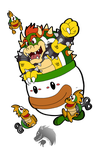 Commission: SMW Bowser and Mecha Koopas by Chibi-Tediz