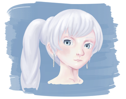 RWBY - Semi-realism Weiss Sketch/speedpaint? by Thothslibrary