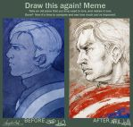 Draw This Again! [Captain America] by AngieParadiseeker