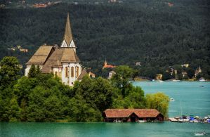 Idyll at the Woerthersee - Maria Woerth by pingallery