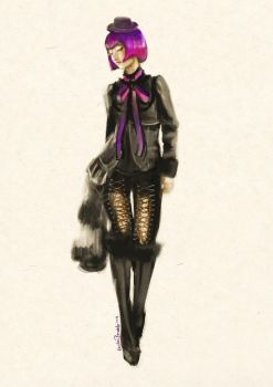 fashion quick sketch by CarlyPandy