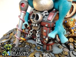 Teal Dragon 2015 (Treasure chest close-up) by MacLeodDragons