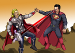 Thor Vs Superman by MedinasWorks