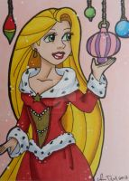 Holiday Rapunzel ACEO by LadyNin-Chan