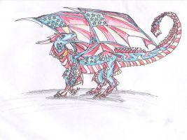 4th of July Dragon by dolphin4dreamer