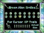 Green Alien Smilie Trails by TNBrat