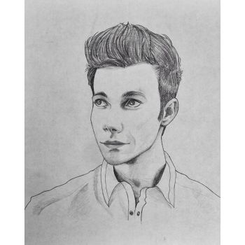 Sketch 3 (Chris Colfer) by OwlMask