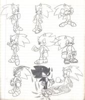 Sonic Poses 2 by Stealthfang