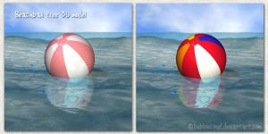 Beachball Free 3d model by BubbleCloud