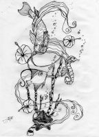 Sea Life Tattoo Design by freaky7styley