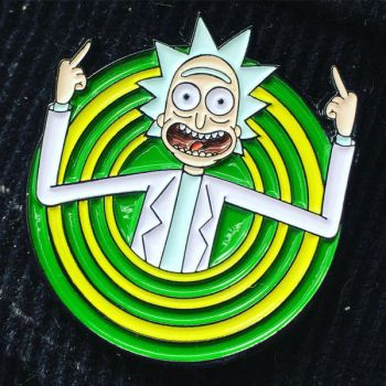 Peace among worlds! pin - Rick and Morty by donot182