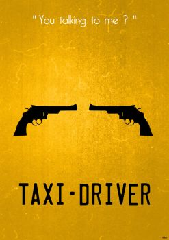 Taxi Driver (update) Minimalist Poster by Tchav