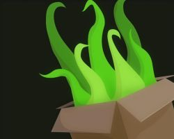 A Box With Protruding Vines by nuked-whale