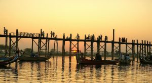 U Bein Bridge At Sunset 1 by CitizenFresh