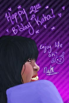 Giftart: Big Sis 21st Bday by zeechan
