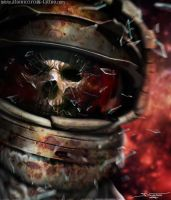 Digital Painting/ Skull in Space by AtomiccircuS