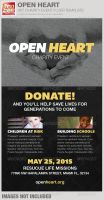 Open Heart Charity Event Flyer Template by loswl