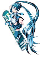 Hatsune Miku Winter Render by lraskie