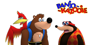 Banjo Kazooie and Bottles by Dreams-N-Nightmares