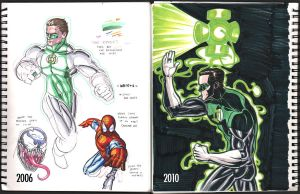 Then and Now - Green Lantern by wannabegeorge