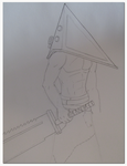 WIP: Pyramid Head by TheAngryFishbed