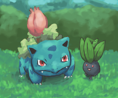 Ivysaur and Oddish