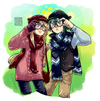 :R: Hipsters by Zackypenguin